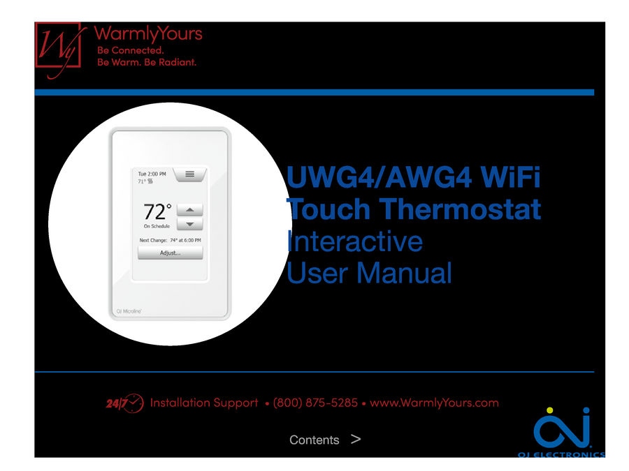 Oj nspire touch wifi interactive user manual a