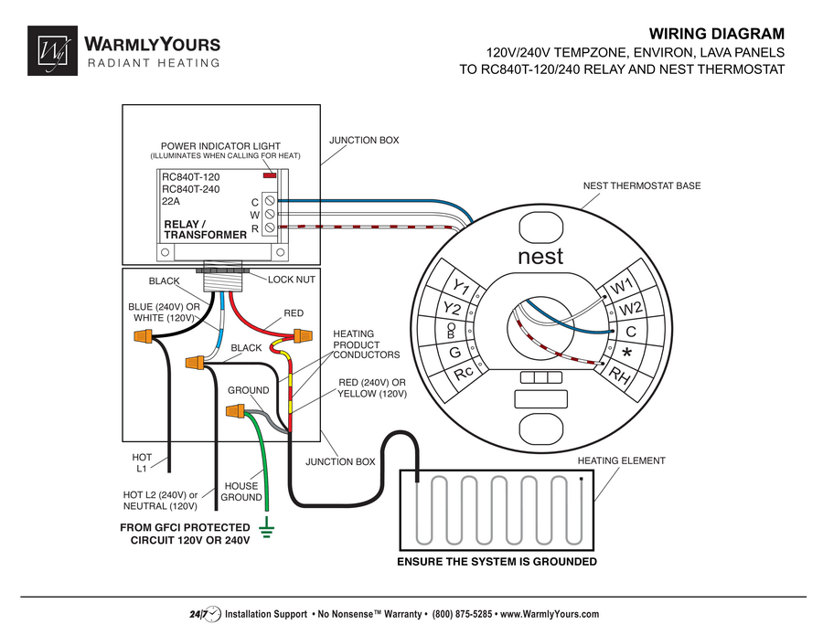 Nest Thermostat For Radiant Heating Wiring Diagrams | Online Wiring on