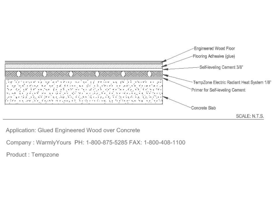 Tz Floor Heat 10 Glued Engineered Wood Over Concrete A