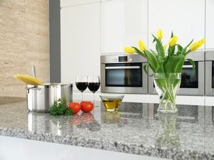 Beautiful granite countertops perfect for meal preparation