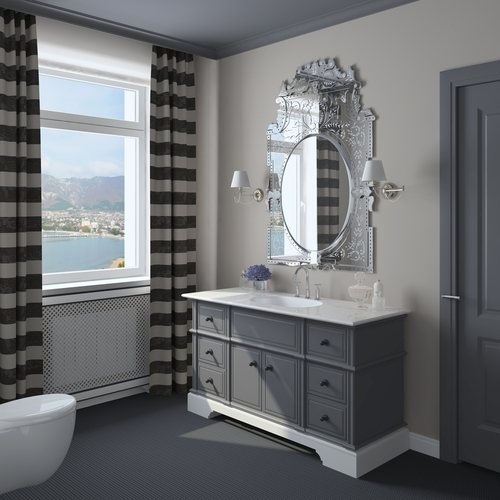 Grey has becoming a popular color choice in kitchens and bathrooms