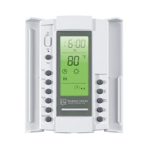 The WarmlyYours SmartStat™ Programmable Thermostat makes it easy for you to optimize your home energy consumption.