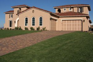 Decorative Driveway enhances curb appeal