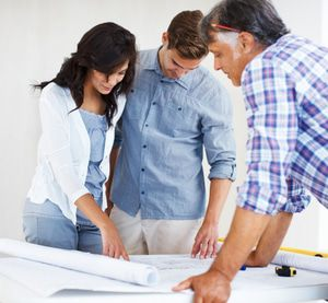 Homeowners consulting with Remodeling Pro