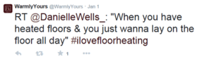 Twitter users show their love for heated floors