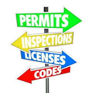 Sign post for permits, codes, licenses