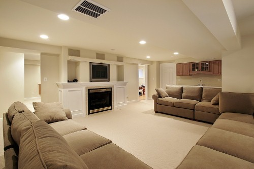 Furnishing your new basement living room