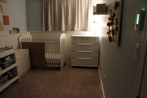 radiant floor heating in a baby's nursery