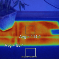 Image of trapped heat underneath flooring