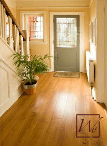 Radiant floor heating in an entryway