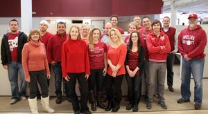 WarmlyYours Radiant Heating goes red to raise funds and awareness of heart disease.