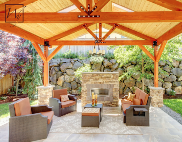 Colored cushions add warmth and style to an outdoor space.