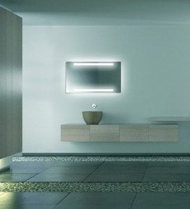 LAVA Light adds the perfect touch, a lighted mirror
