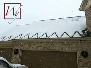 WarmlyYours roof & gutter deicing system for our troops