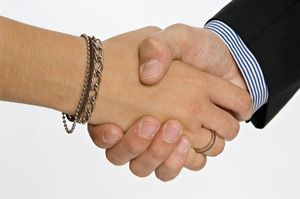 Handshake on a new partnership
