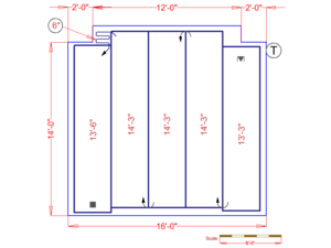 A custom floor plan can show you how to install electric radiant heated floors in your room.