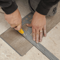 Cutting planks to size is simple with a utility knife