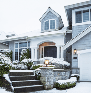 Covered entrances will protect your guests from winter weather while they wait.