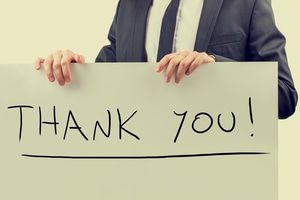 Handwritten Thank You sign