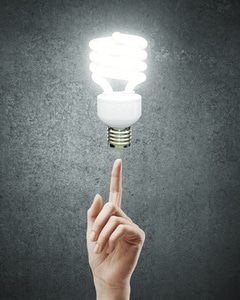 Compact fluorescent bulbs are 30% more efficient than traditional bulbs.