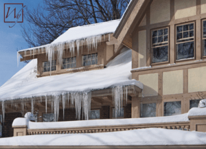 Thick icicles can indicate an ice dam on your roof.