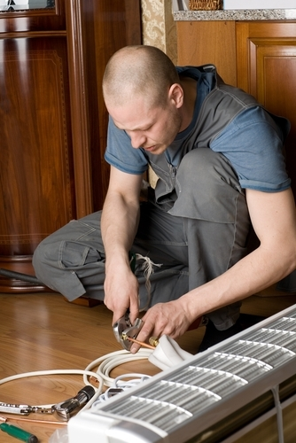 Electrical work, including installing radiant heat, should always be left to a professional