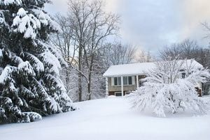 Home after snow storm