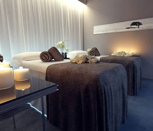 In-floor heating keeps spa clients warm and comfortable throughout their session