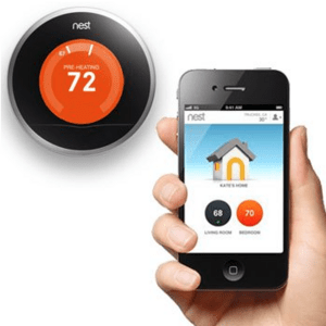 The Nest thermostat can learn your schedule to help save energy and money.