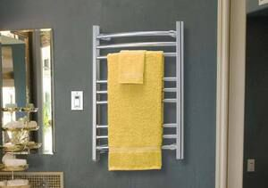 Riviera curved hardwired towel warmer