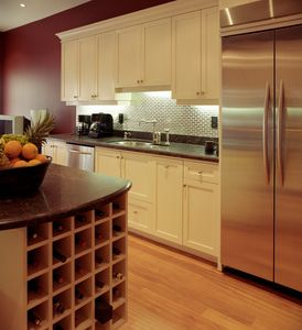 Kitchen with wine storage