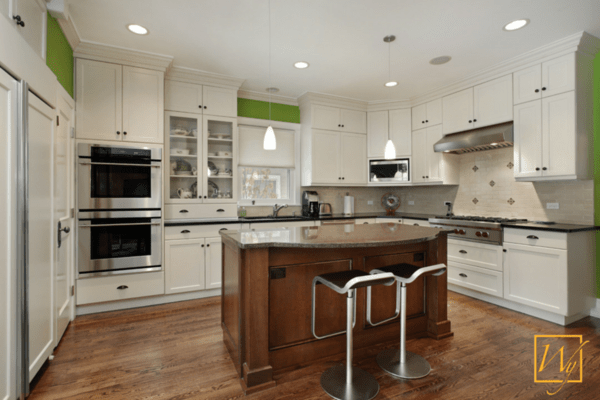 Heated floors and countertops in a small kitchen.