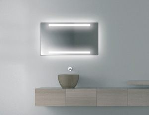 LAVA Light adds multifunctional elegance to the bath with warmth, light, and reflection