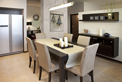Add Warmth in More Ways Than One to Family Dining Room