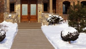 Snow-melting systems can clear snow on driveways or walkways.