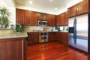 Lustrous Stainless Steel kitchen appliances