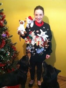 WarmlyYours Ugly Sweater Contest Winner, Mary Godawa.
