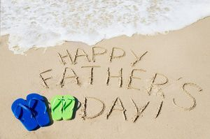 Father's Day greeting in the sand