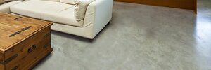 Decorative cement floors can spruce up an otherwise dull basement.