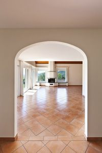 Radiant floor heating systems add extra warmth to the home and and take the chill off of tile floors.