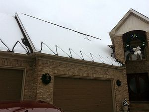 A WarmlyYours roof and gutter deicing system keeps veterans safe.