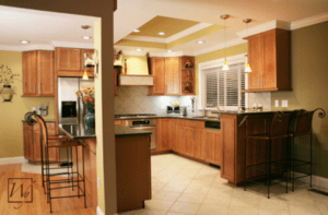 Guests typically gravitate to the kitchen during parties, so it's important to keep this area warm and inviting.