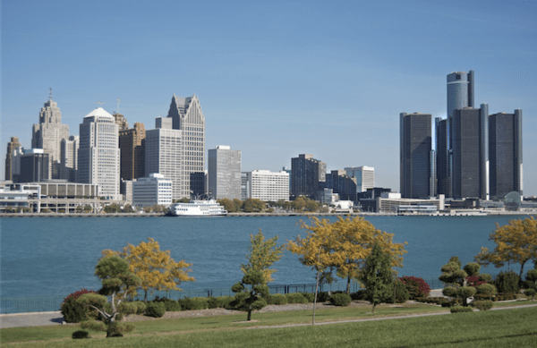 Detroit (Motor City) Skyline