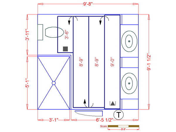 Bathroom floor heating plan
