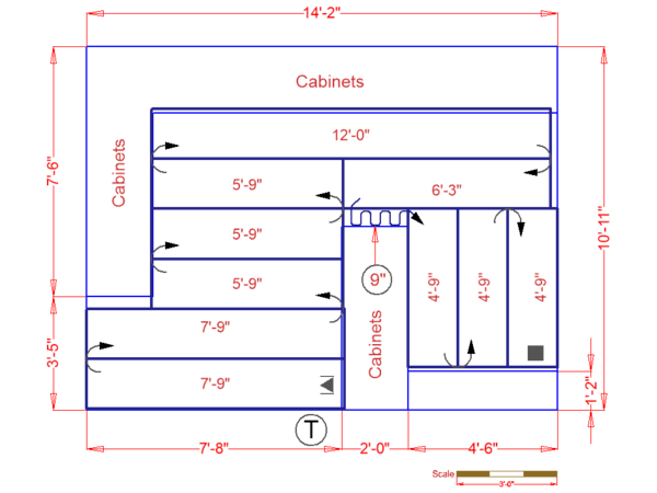 Kitchen Floor Plan for Adding Radiant Heat